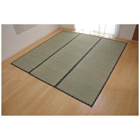 イケヒコ IKEHIKO ラグ い草 糸引織 「立山」(286×286cm/ナチュラル)【日本製】