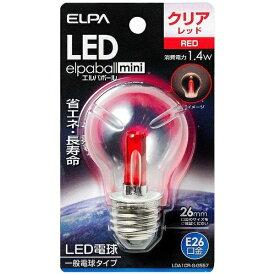 ELPA エルパ LDA1CR-G-G557 LED装飾電球 PS形 LEDエルパボールmini レッド [E26 /赤色 /1個 /一般電球形][LDA1CRGG557]