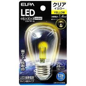 ELPA エルパ LDS1CY-G-G909 LED装飾電球 サイン球形 LEDエルパボールmini イエロー [E26 /黄色 /1個][LDS1CYGG909]