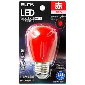 ELPA エルパ LDS1R-G-G904 LED装飾電球 サイン球形 LEDエルパボールmini レッド [E26 /赤色 /1個][LDS1RGG904]