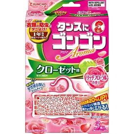 大日本除虫菊 KINCHO ゴンゴンアロマクローゼットNリッチフローラル3個〔防虫剤〕