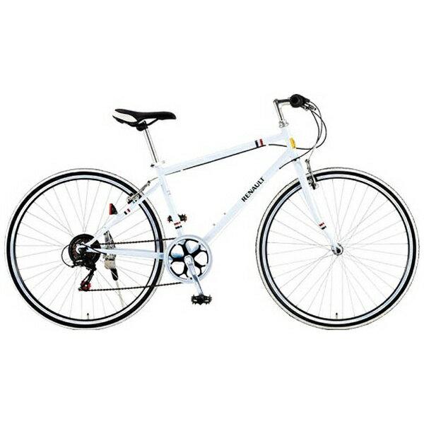 【送料無料】 ルノー 700×28C型 クロスバイク RENAULT CRB7006S(ホワイト/430サイズ) 11130-12【組立商品につき返品不可】 【代金引換配送不可】