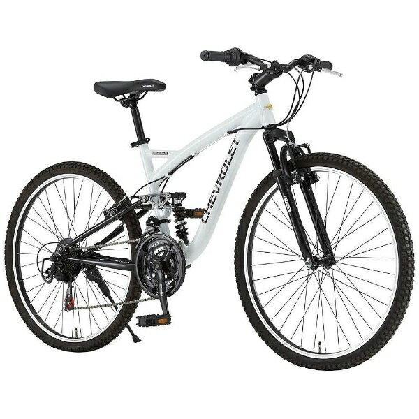 【送料無料】 シボレー 26型 マウンテンバイク CHEVROLET AL-ATB2618EX(ホワイト) 14184-12【組立商品につき返品不可】 【代金引換配送不可】