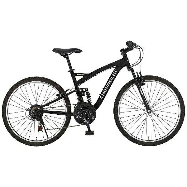 【送料無料】 シボレー 26型 マウンテンバイク CHEVROLET AL-ATB2618EX(ブラック) 14184-01【組立商品につき返品不可】 【代金引換配送不可】