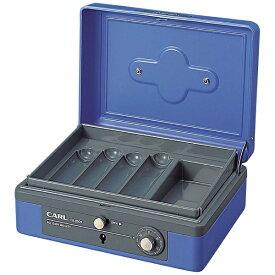 カール事務器 CARL CB-8200-B キャッシュボックス L ブルー [ダイヤル式]