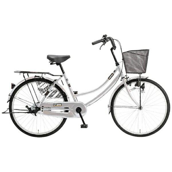 【送料無料】 アサヒサイクル 24型 自転車 サントス24(メタリックシルバー/シングルシフト) TB4TD【組立商品につき返品不可】 【代金引換配送不可】【メーカー直送・代金引換不可・時間指定・返品不可】