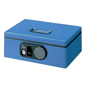 プラス PLUS CB-030F-BL 手提金庫 S 12-843 F型 ブルー [鍵式+ダイヤル式] 【代金引換配送不可】