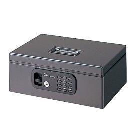 プラス PLUS 手提金庫 「電子ロックFL型 M」 12-836 (ダークグレー)