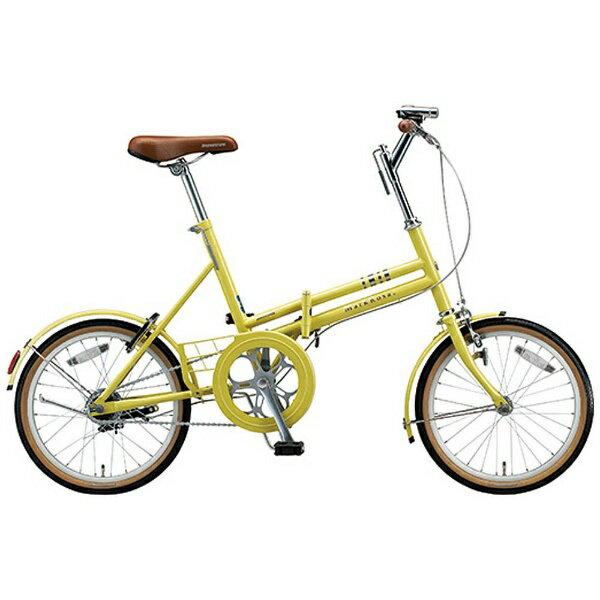 【送料無料】 ブリヂストン 18型 折りたたみ自転車 MarkRosa F(E.Xシトロンイエロー/シングルシフト) M80F5【組立商品につき返品不可】 【代金引換配送不可】
