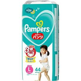 P&G ピーアンドジー Pampers(パンパース) さらさらケア パンツタイプ スーパージャンボ Lサイズ(9kg-14kg) 44枚〔おむつ〕【2109sspg】