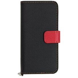 ラスタバナナ RastaBanana iPhone SE(第1世代)4インチ / 5s / 5用 手帳型ケース SNAP+COLOR ブラック×レッド 2251IP6C スタンド機能 ポケット・Dカン付