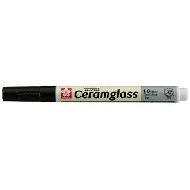 サクラクレパス SAKURA COLOR PRODUCT [陶磁器・ガラス用マーカー] セラムグラス 細字(フック) ブラック GKSP#49