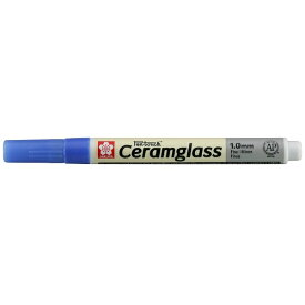 サクラクレパス SAKURA COLOR PRODUCT [陶磁器・ガラス用マーカー] セラムグラス 細字(フック) ブルー GKSP#36