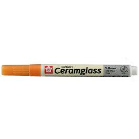 サクラクレパス SAKURA COLOR PRODUCT [陶磁器・ガラス用マーカー] セラムグラス 細字(フック) オレンジ GKSP#5