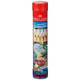 シヤチハタ Shachihata [水彩色鉛筆] ファーバーカステル 水彩色鉛筆 丸缶 12色セット TFC-115912