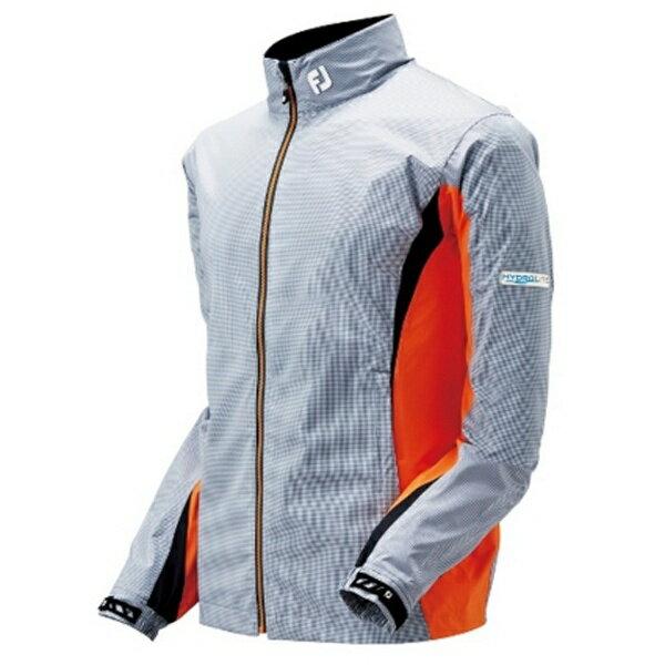 フットジョイ メンズ ジャケット ハイドロライトレインジャケット(XLサイズ/スチールグレー×ホワイト)#85362