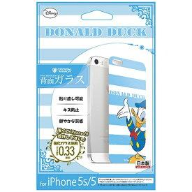 エムディーシー MDC iPhone 5s/5用 Disney背面ガラス ドナルドダック ボーダー GLASS5-71459
