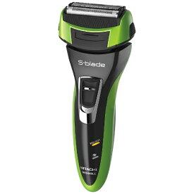 日立 HITACHI RM-LF463 メンズシェーバー S-blade(エスブレード) メタリックグリーン(G) [4枚刃 /国内・海外対応][電気シェーバー 男性 髭剃り RMLF463]