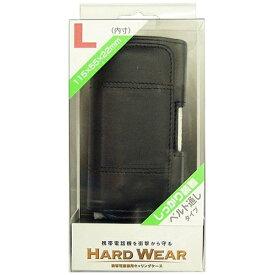 オズマ OSMA 携帯ケース/横型/縫い付けタイプL/黒