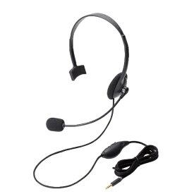 エレコム ELECOM HS-HP21TBK ヘッドセット ブラック [φ3.5mmミニプラグ /片耳 /ヘッドバンドタイプ][HSHP21TBK]