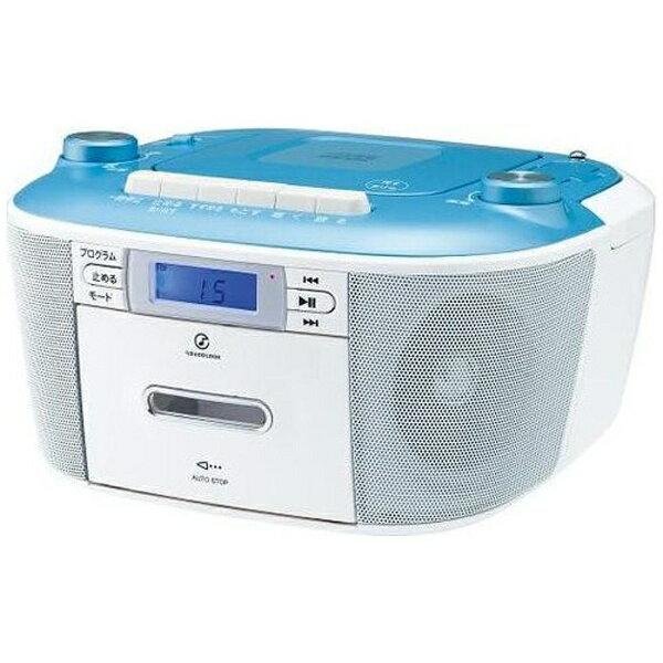 コイズミ KOIZUMI 【ワイドFM対応】CDラジカセ(ラジオ+CD+カセットテープ)(ブルー) SOUNDLOOK SAD-4935/A[SAD4935A]