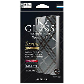 MSソリューションズ Xperia Z4用 GLASS PREMIUM FILM 背面デザイン ストライプ柄 0.33mm LEPLUS LP-XPZ4FGLD02