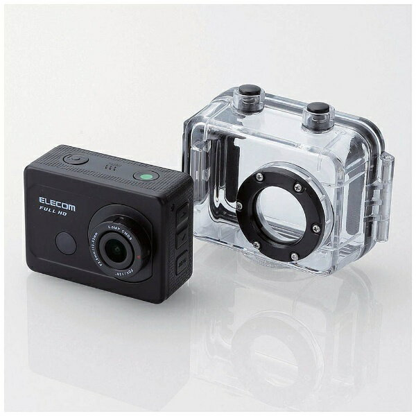 【送料無料】 エレコム マイクロSD対応 Full HD対応アクションカメラ(アクセサリ付きモデル) ACAM-F01SBK[ACAMF01SBK]