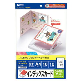 サンワサプライ SANWA SUPPLY 〔インクジェット〕つやなしマット CD・DVDケースカード 0.22mm (A4・10シート)JP-IND2N[JPIND2N]【wtcomo】