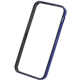 パワーサポート POWER SUPPORT iPhone SE(第1世代)4インチ / 5s / 5用 フラットバンパーセット メタリックブルー PSE-43 液晶保護フィルム・背面フィルム付