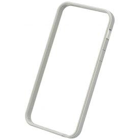 パワーサポート POWER SUPPORT iPhone SE(第1世代)4インチ / 5s / 5用 フラットバンパーセット シルバー&ホワイト PSE-40 液晶保護フィルム・背面フィルム付