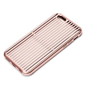 PGA iPhone 6s/6用 アルミニウムケース スリット ピンクゴールド PG-I6SAL04PK