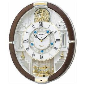 セイコー SEIKO からくり時計 【ウェーブシンフォニー】 茶マーブル模様 RE575B [電波自動受信機能有]