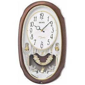 セイコー SEIKO からくり時計 【ウェーブシンフォニー】 茶マーブル模様 AM260A [電波自動受信機能有]