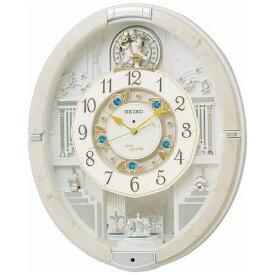 セイコー SEIKO からくり時計 【ウェーブシンフォニー】 アイボリーマーブル模様 RE576A [電波自動受信機能有][RE576A]