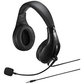 サンワサプライ SANWA SUPPLY MM-HS401BK ヘッドセット ブラック [φ3.5mmミニプラグ /両耳 /ヘッドバンドタイプ][MMHS401BK]