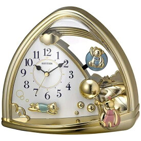 リズム時計 RHYTHM 置き時計 ファンタジーランド762SR 金色 4SG762SR18
