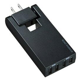サンワサプライ SANWA SUPPLY スイングUSB充電タップ ブラック TR-AD3USBBK [直挿し /1個口 /4ポート /スイッチ無][TRAD3USBBK]