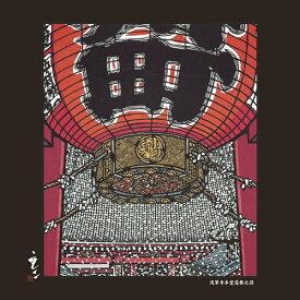 パール Pearl 日本風景の切画クロス(浅草寺本堂屋根)