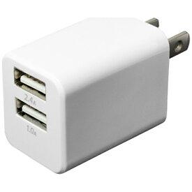 ミヨシ MIYOSHI 旅行用USB-AC充電器 白 2台同時充電可能 合計2.4A出力 全世界対応 MBP-24U/WH