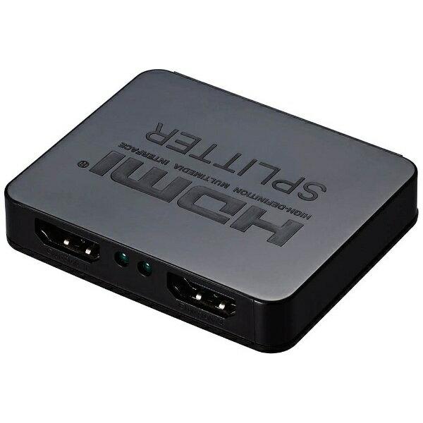 グリーンハウス GREEN HOUSE 4K対応HDMI分配器(2分配)GH-HSPA2-BK【USB給電タイプ】