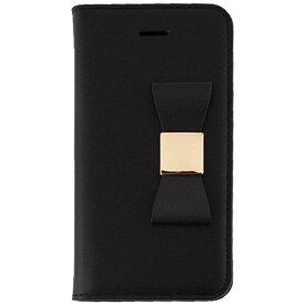 ROA ロア iPhone SE(第1世代)4インチ / 5s / 5用 Ribbon Classic Diary ブラック LAYBLOCK LB7561i5se ポケット付