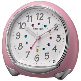 リズム時計 RHYTHM 目覚まし時計 アビスコSR ピンク(白) 8RE653SR13 [アナログ]