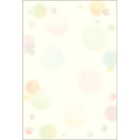 ササガワ SASAGAWA 4-1127 和柄用紙 和ごころ 水玉 ハガキサイズ/20[41127]