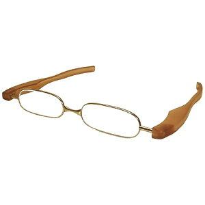 銀河 GALAXY 折りたたみ老眼鏡 ポッドリーダー スマート(ブラウン/+1.50)