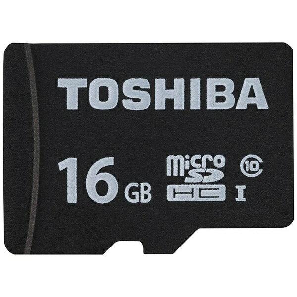 東芝 16GB・UHS Speed Class1(Class10)対応 microSDHCカード(SDHC変換アダプタ付) MSDAR40N16G