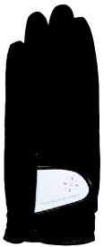 キャスコ 【レディース 両手用】ゴルフグローブ PLATINUM STREET(19cm/ブラック)PS-1215LW