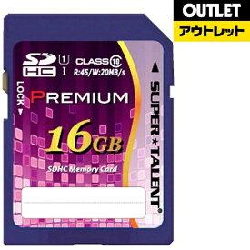 SUPERTALENT スーパータレント 【アウトレット品】SDHCカード Premiumシリーズ ST16SU1P [16GB /Class10]【数量限定品】ST16SU1P 【kk9n0d18p】
