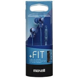 マクセル Maxell イヤホン カナル型 MXH-C110S ダークブルー [リモコン・マイク対応 /φ3.5mm ミニプラグ][MXHC110SDB]