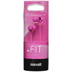 マクセル Maxell イヤホン カナル型 MXH-C110 ピンク [φ3.5mm ミニプラグ][MXHC110PK]