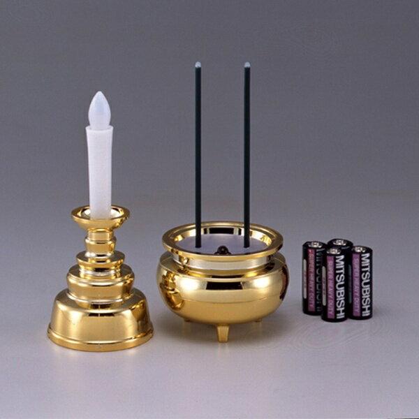 スマイルキッズ 安心のろうそくお線香セット(各1個) ゴールド AGI101GD[AGI101GD]